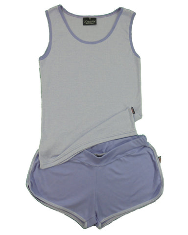 Tank top & shorts set, luxury soft cotton, made in England