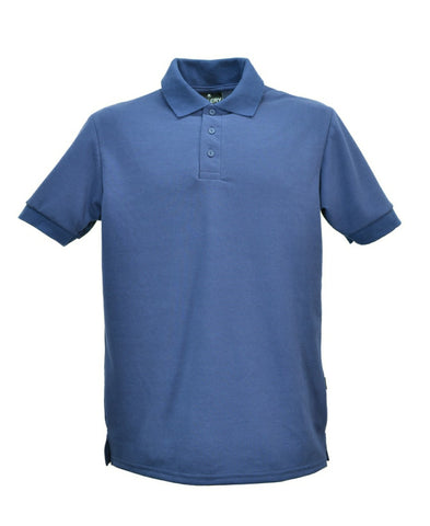 Men's navy polo shirt, made in England