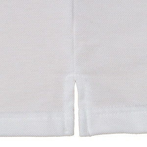 Men's polo shirt side vent detail