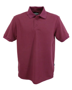 Men's burgundy polo shirt, made in England