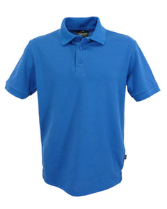 royal blue polo shirt for men, made in England