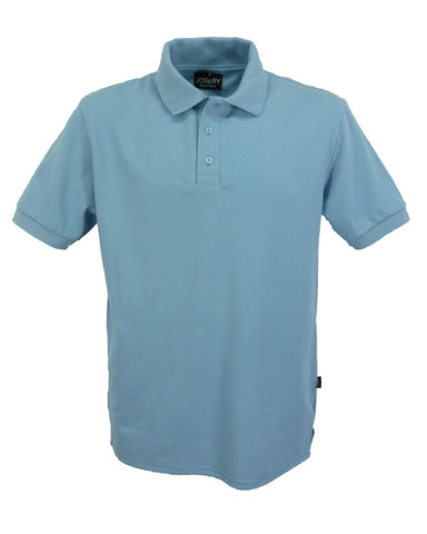 Light Blue polo shirt, men's style, made in England