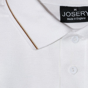J502 Men's Polo Shirt with narrow double striped trims