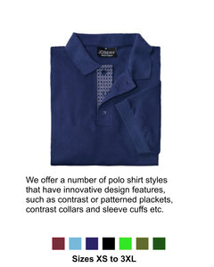 J510 Men's Polo Shirt with patterned lower placket