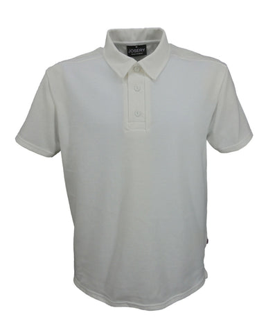 Men's white tailored collar style polo shirt, Made in England