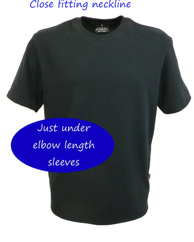 J701 Men's Black Crew Neck T-Shirt
