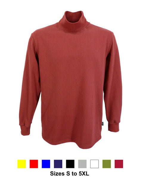 Men's burgundy polo neck shirt, made in England, available in 9 shades