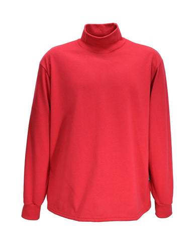 Red polo neck jumper, made in England