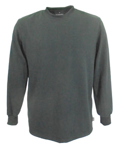 Men's long sleeve T-Shirt in black, made in UK.    Heavyweight 100% cotton.