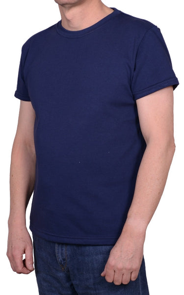 british made t-shirt with classic neckline, cotton
