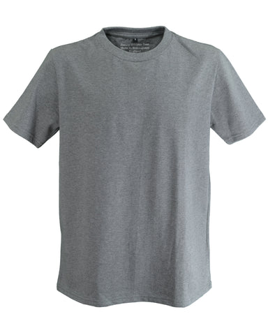 Men's athletic T-Shirt, grey marl.    Made in England.