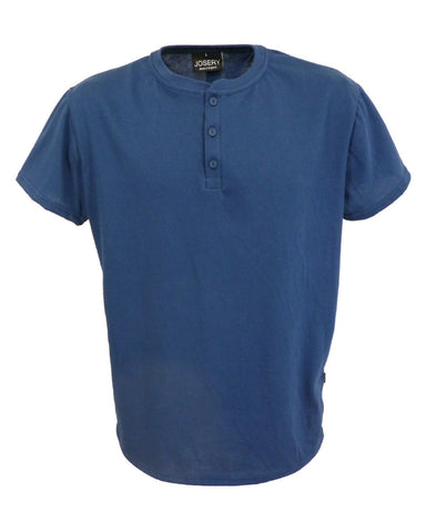 Henley style T-Shirt, navy blue, made in England