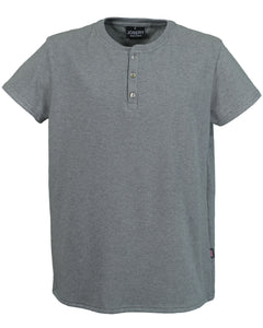 Men's grey marl Henley T-Shirt, made in England