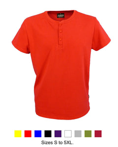 Men's Henley neck shirt, red, made in England