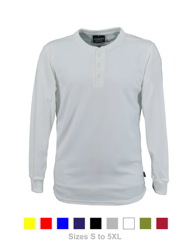 J718 Men's Long Sleeve Henley style T-Shirt