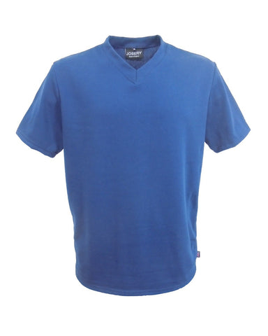 V-Neck T-Shirt Royal, made in England