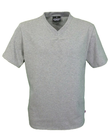 Men's V-Neck T-Shirt, grey marl, made in UK