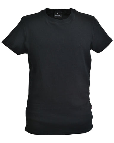 Black slim fit interlock T-Shirt, made in England