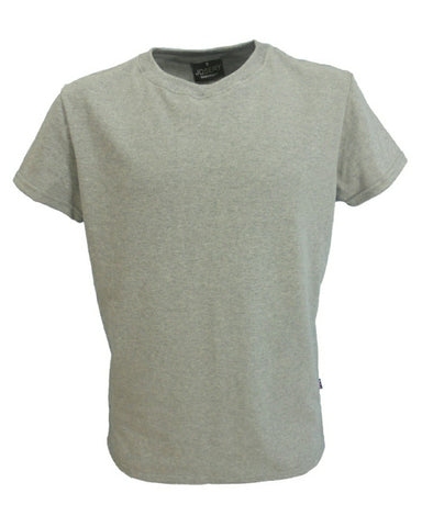 Men's interlock slimfit T-Shirt, grey marl.   UK Made
