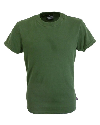 Men's Slim Fit Olive T-Shirt, Made in England