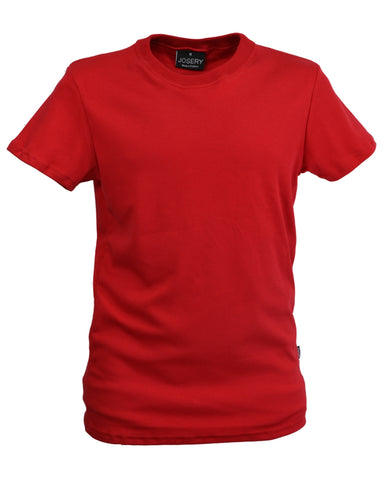 Men's interlock slim fit T-Shirt red.   UK Made