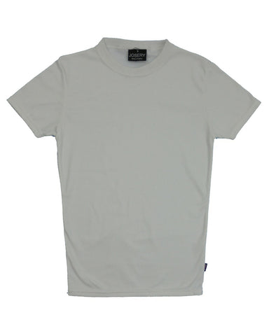 White slim fit interlock T-Shirt, made in England