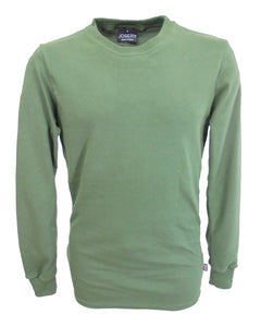 Long sleeve T-Shirt, slim fit, olive green.   made in England