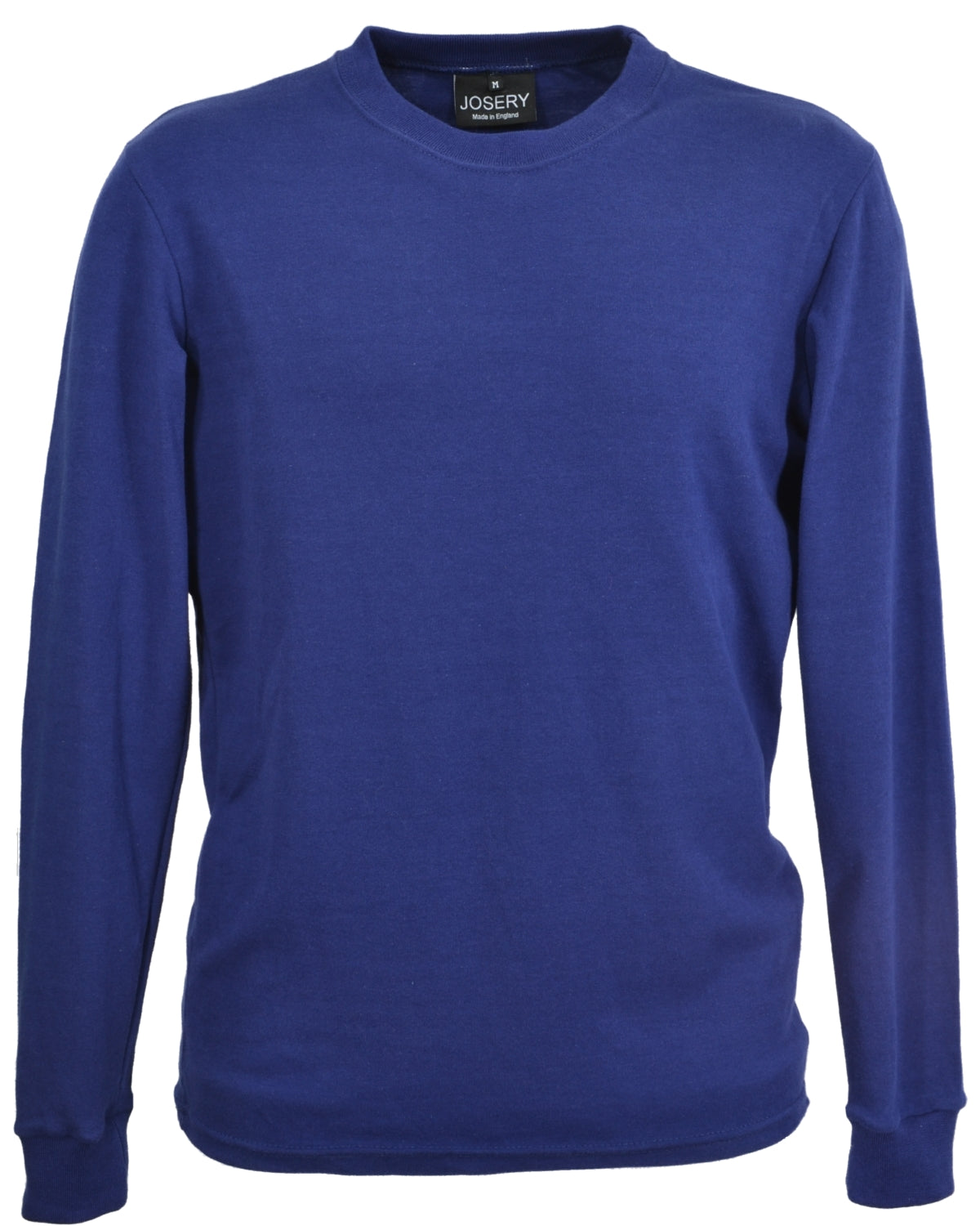 Navy, slim fit, long sleeve men's T-Shirt.    Made in England