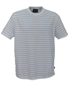 J767 Men's Classic Fit Striped Interlock T-Shirt