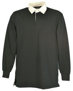 Black rugby shirt, made in England