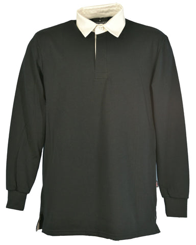 J790 Black Rugby Shirt