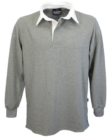 Grey Marl rugby shirt, made in England