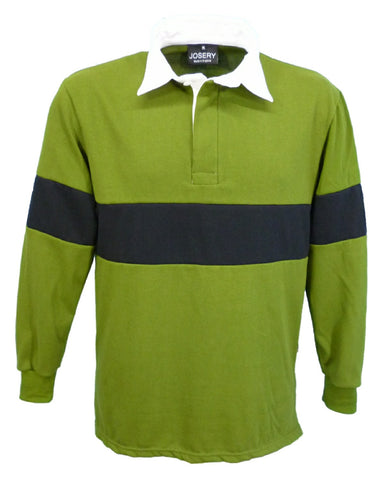 J791 Rugby Shirt - Olive with Black band