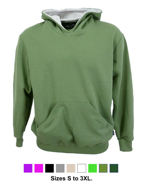 Men's hoodie, olive green, made in England