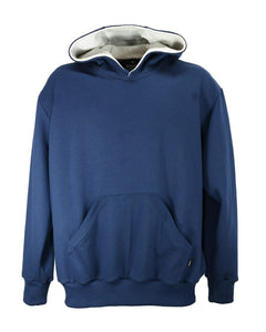 Men's hoodie, navy blue, made in England by Josery