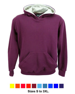 Men's Burgundy hooded sweatshirt, made in England