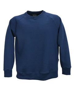 Men's raglan sweatshirt, navy, made in England
