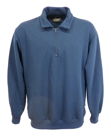 J809 Pull over zip neck sweat top navy