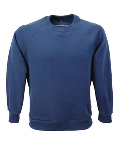 Navy athletic sweatshirt, for men, made in England