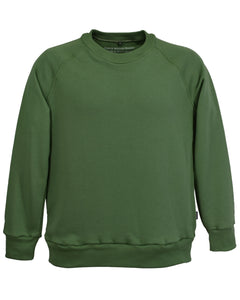 Olive Green athletic sweatshirt, for men, made in England