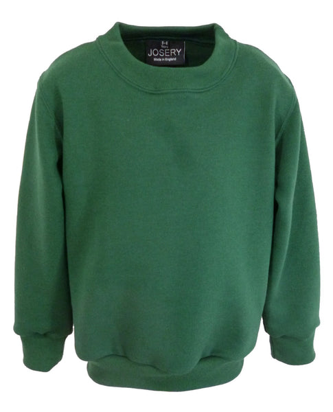 Child's sweatshirt forest green, made in England