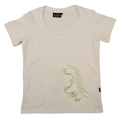 J303 Ladies Scoop Neck T-Shirt with Bumble Lime Design 23A/14