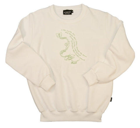 J905 Set in Sleeve Sweatshirt With Embroidered Bumble Lime Design 23A/14