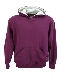 Maroon hoodie, made in UK