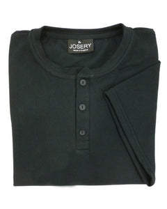Black Henley T-Shirt, made in England