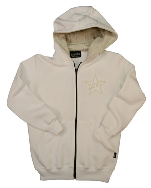 Childs zip hoodie with embroidered star design