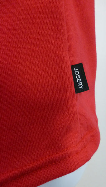 Red T-Shirt, side seam Josery tag.
