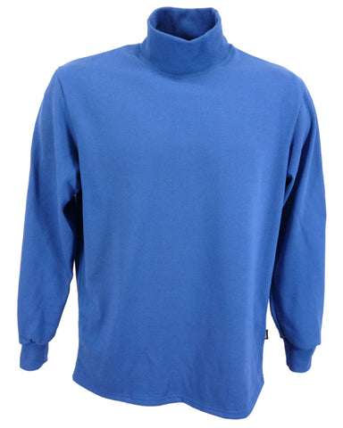 royal blue polo neck sweater for men