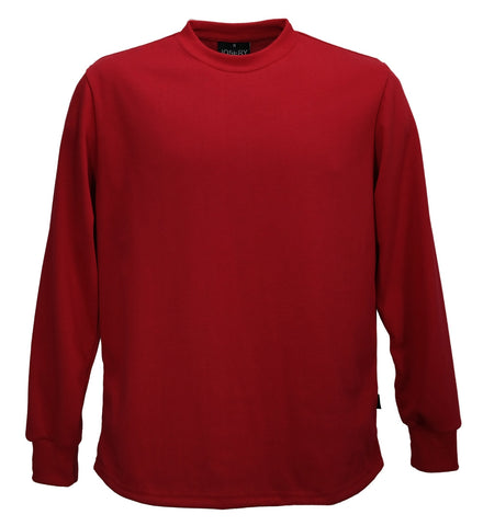 Long sleeve cotton t-shirt red. Made in England