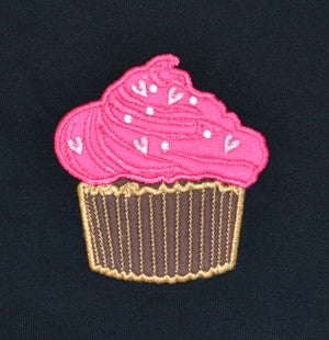 J910 Child's T-Shirt With Embroidered Cup Cake Design 22P/16